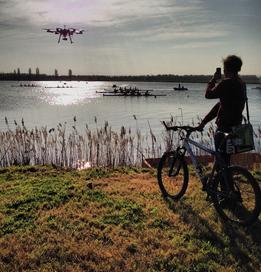 Boat race shot by drone
